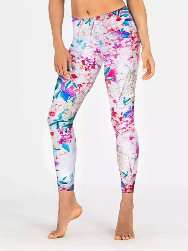 Floral Printed Empire Yoga Leggings