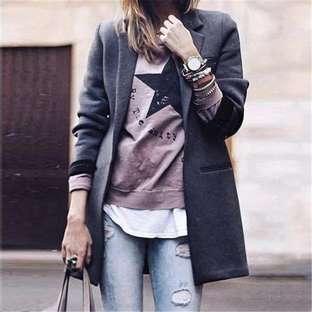 Casual Solid Color Coat
