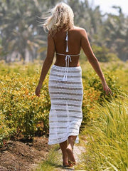 Bohemia Hollow Spaghetti-neck Cover-up Swimwear