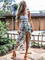 Floral Printed Sexy Bandage Skirt Bottoms