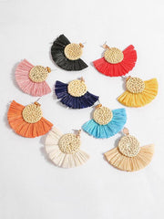 Fashion Rattan Tassels  Earring Accessories
