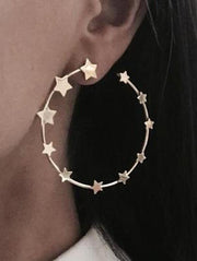 Vintage Star Pattern Earrings Accessories