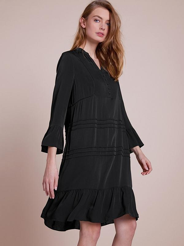 Loose V-neck Fastener Cover-ups Swimwear