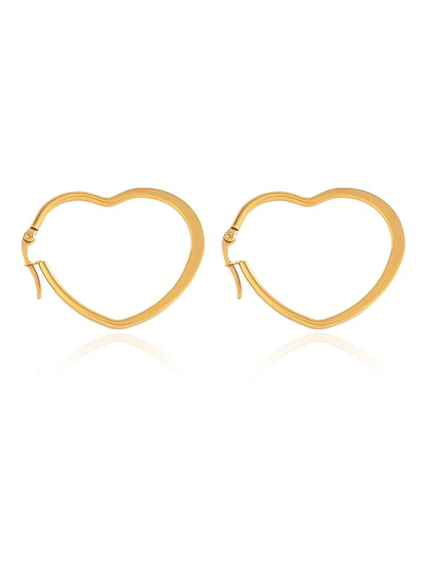 Hollow Loving Heart&Oval Shape Designed Earrings