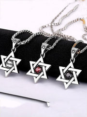 Six-pointed Star Zircon Necklaces Accessories