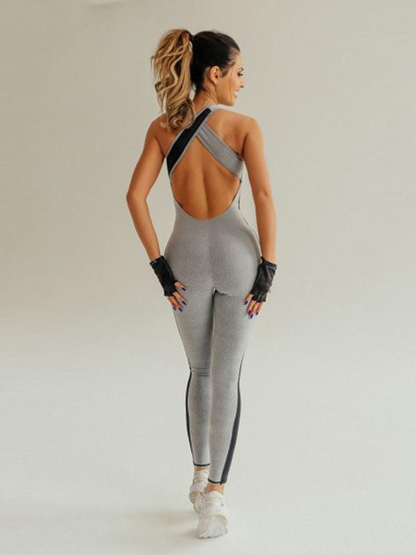 Yoga Yoga Cross Strappy Racerback Gym Jumpsuits
