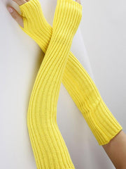 Knitted Solid Color Sleevelet Accessories
