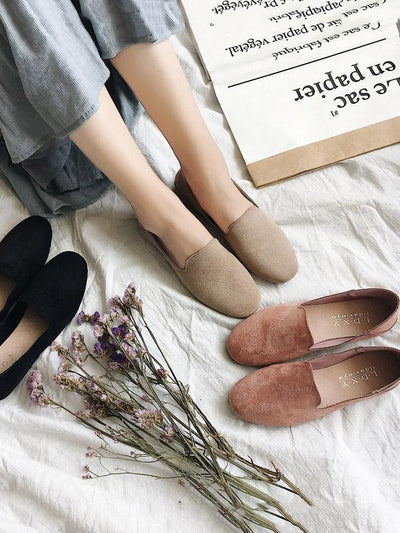 Simple Comfortable Suede Shoes