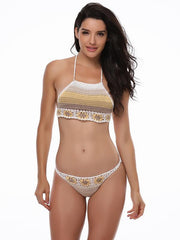 Crochet Flower Cute Bikinis Swimwear