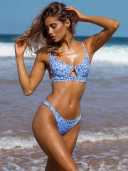 Balconette Printed Scrunch Bikini Set