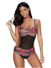 Bohemia Backless Spaghetti-neck One-piece Swimsuit