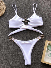 Scrunch Tie Back Bikini Swimsuit