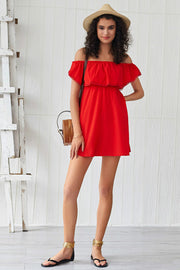Elegant Vintage Off Shoulder Slash Neck Mini Dresses