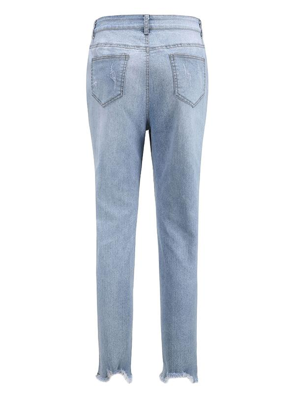Fashion Skinny Leg Jean Pants Bottoms