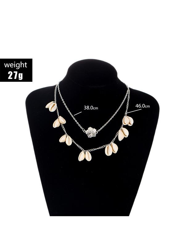 Two-layer Flower Shells Exotic Necklace