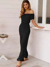 Cold Shoulder Short Sleeve Wide Leg Jumpsuits