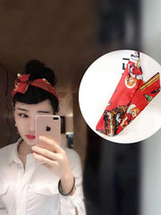 Printed Rabbit-ears Hair Band