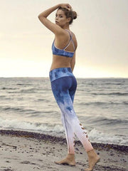 Printed Ocean Pattern Fashion Yoga Leggings