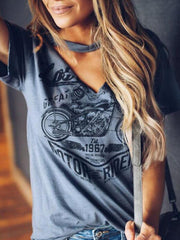 Printed Monogrammed Short Sleeve T-shirt