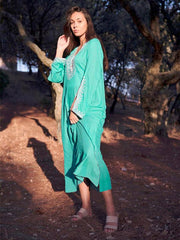 Embroidered Raised Band Kaftan Cover-up