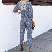 Casual Digital Printed Colour 3/4 Sleeves Jumpsuit