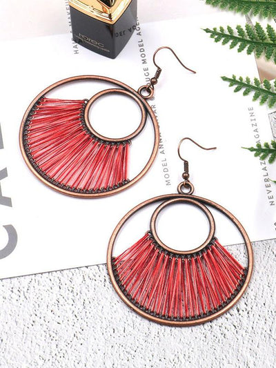 Vintage 6 Colors Bohemia Hollow Earrings