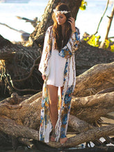 Plus Size Printed Loose Cover-up Swimwear