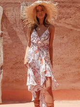 V-neck Printed Madi Dress