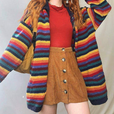 Casual Everyday Color Matching Knitted Sweater