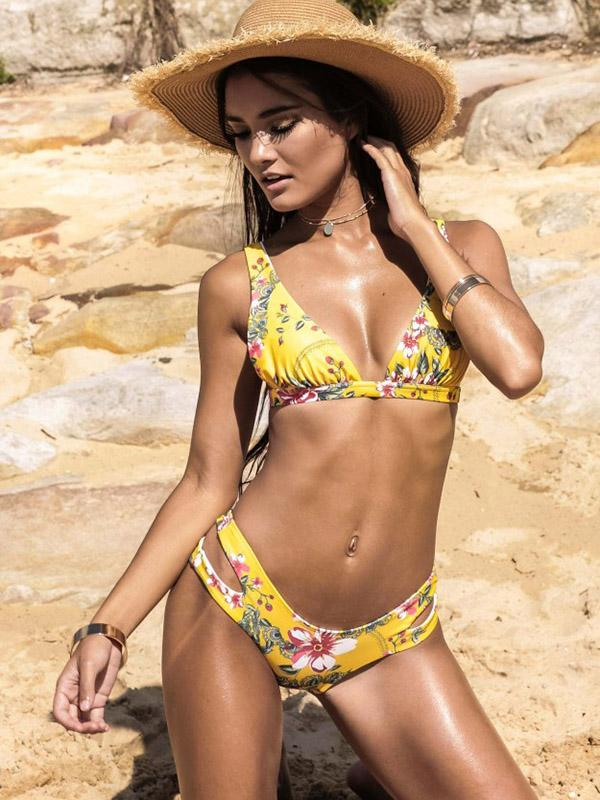 Scrunch Printed Bikini Set