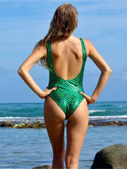 Zipper Sexy One-piece Swimwear