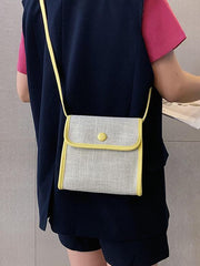 Linen Square One-shoulder Bag