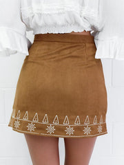 Unique Simple Printed Short Skirt Bottoms
