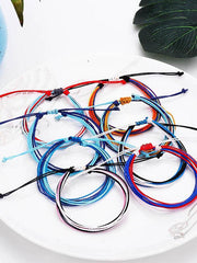 Waterproof Wax Line Colorful Bracelet
