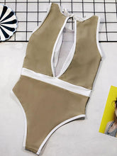 Split-joint Thin Gauze One-piece Swimsuit