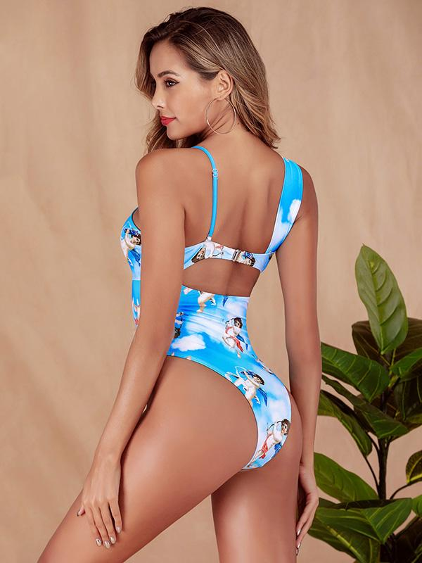 Hollow Knot One Piece Swimsuit