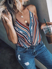 Striped Fashion T-shirts Tops