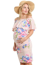 Maternity Printed Off-the-shoulder Mini Dress