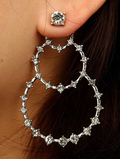 Fashion Bohemia Hollow Water Drop Pattern Earrings