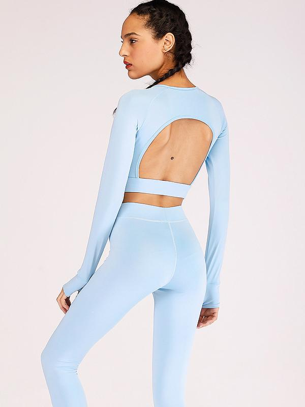 Yoga Cut Out Gym Tee And Leggings Suits