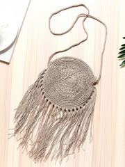 Handmade Crochet Knitting Bohemia Bag