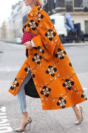 Fashion Printed Long Cloth Coat