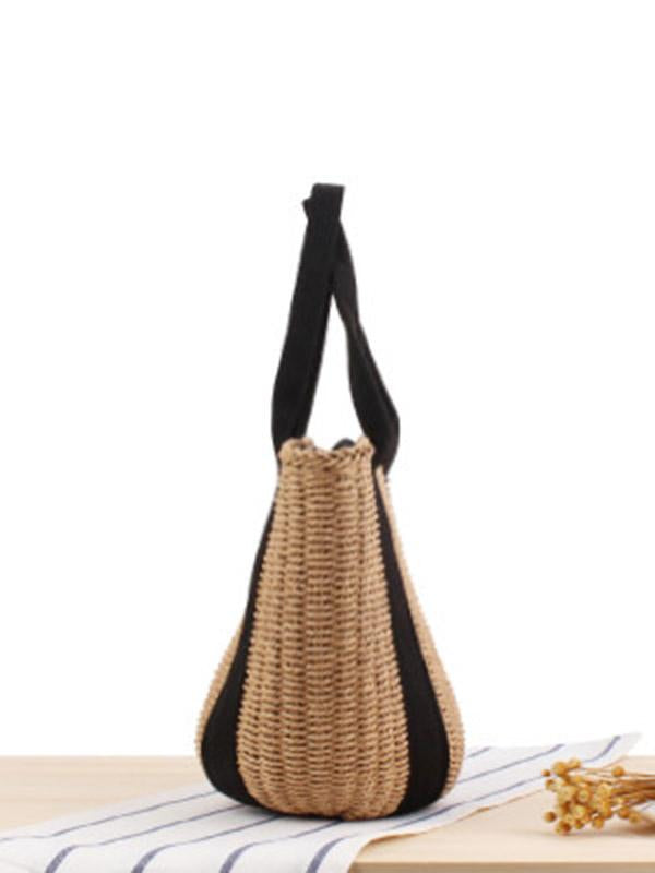 Ribbon Straw Plaited Article Bohemia Bag