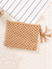 Knitted Bohemia Tasseled Handbag