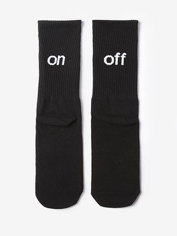 Simple Male Female Socks