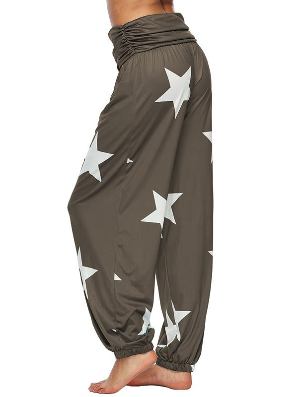 Stars Printed Plus Size Loose Harem Pants
