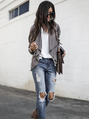 Fashion Solid Color Outwear