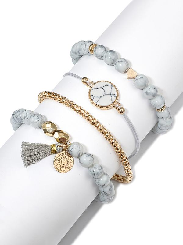 Fashion 4pcs Vintage Aolly Bracelets Accessories