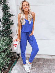 Fashion Solid Color Long Jumpsuits