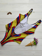 Retro Wide Strap One Piece Swimsuit